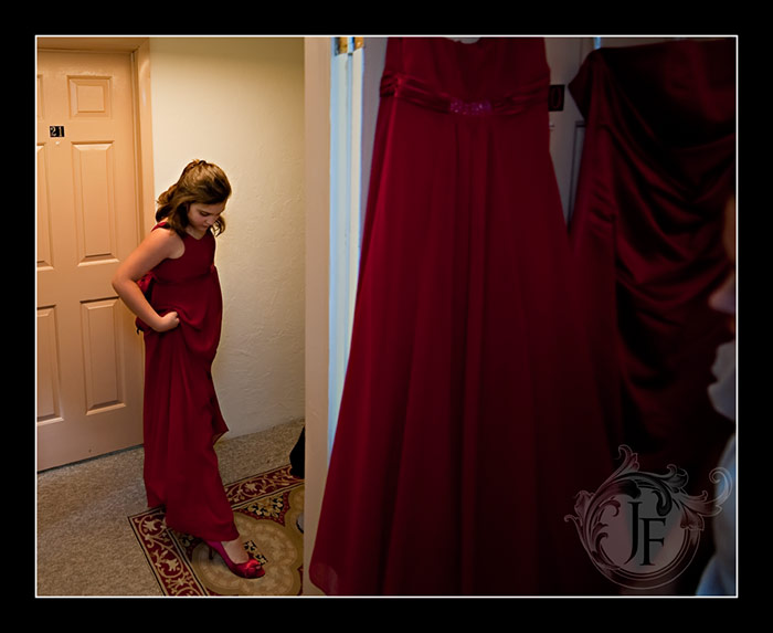 One of the junior bridesmaids in someone else's shoes. (Jeff Franks - Nikon D3)